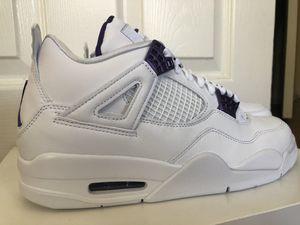 "Nike Air Jordan 4 Retro ""Metallic Purple"" size 9.5 for Sale in Los Angeles, CA"