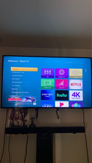 "55"" Hisense TV w/ Roku for Sale in Douglasville, GA"