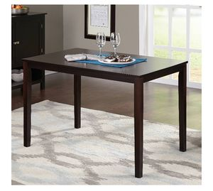 TMS Contemporary Dining Table, Brown Color, A2-54 for Sale in St. Louis, MO