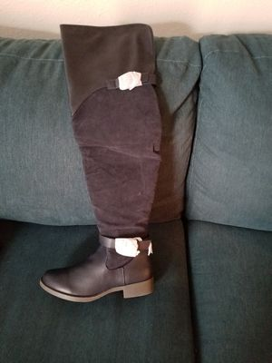 Thigh high blue boots for Sale in Austin, TX