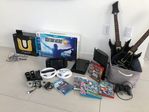 Nintendo wii deluxe gaming bundle w/ U gamepad, Sony PlayStation 3, Guitar hero live + more games for Sale in Miami Beach, FL