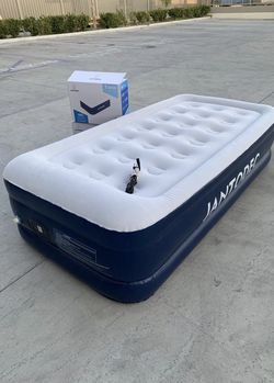NEW JantoDex Twin size mattress 550 lbs capacity inflate deflate built-in pump under 5 minutes includes carrying bag 75x39x18 inch tall inflatable ca for Sale in Covina,  CA
