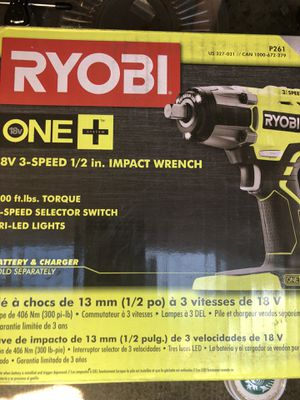 Ryobi impact wrench tool battery sold separately for Sale in Pleasant Hill, CA