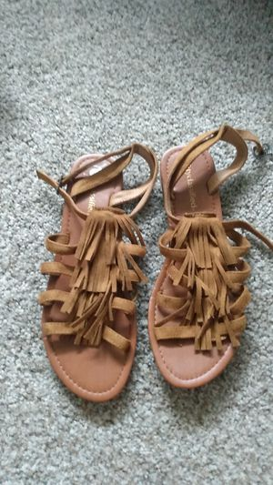 Tan fringe sandals for Sale in El Cajon, CA