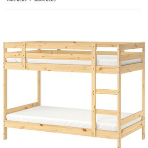 Twin Bunk Bed- Wood for Sale in San Diego, CA