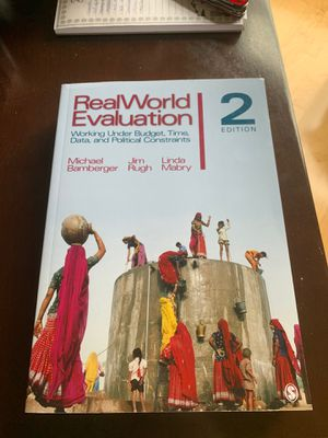 Real World Evaluation 2nd Edition Michael Bamberger for Sale in Alexandria, VA