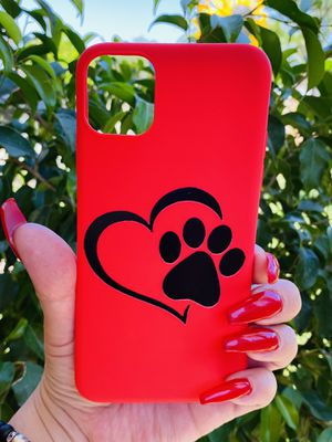 Brand new cool iphone 11 PRO MAX 6.5 case cover phone case rubber pet lovers red girls women cute pretty for Sale in San Bernardino, CA