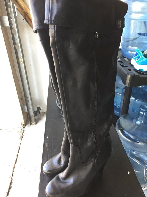 Women's LEATHER Stiletto Boots - PERFECT FOR HALLOWEEN COSTUME!!
