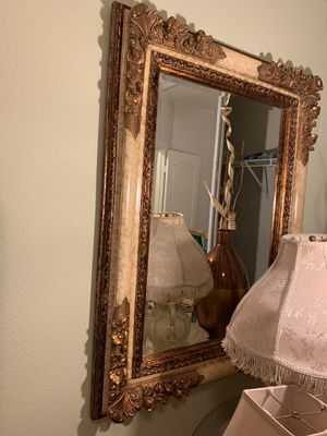 Beautiful gold creme large mirror for Sale in Fontana, CA