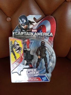 Marvel Captain America Super Soldier Gear Precision Strike Winter Soldier Action Figure for Sale in West Chicago, IL