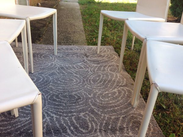 Breakfast dining chairs white contemporary mid century modern