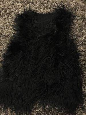 Black Fur Vest for Sale in Everett, WA
