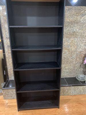 Black bookshelf with 4 shelves 6 Feet tall x 2 Feet 5 inches x 1 Foot deep for Sale in Aurora, CO