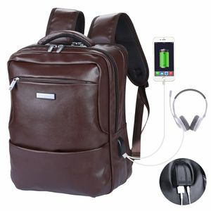 New Leather Business Laptop Backpack w/ USB Charging Port and Headphone Interface for Sale in Lorain, OH