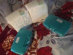 Size 2 & wipes pamper swaddlers take all $20 for Sale in Paramount, CA