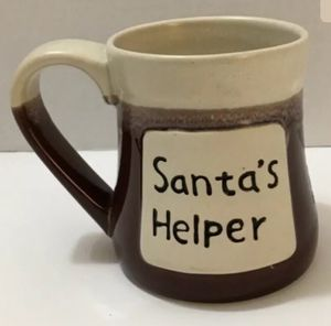 "Stoneware Christmas Mug ""Santa's Helper"" for Sale in FL, US"