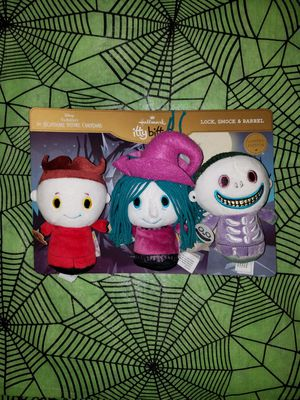 Tim Burton's The Nightmare Before Christmas Lock, Shock and Barrel itty bittys Stuffed Animals, Set of 3 for Sale in Bellflower, CA