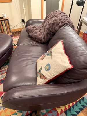 Leather sofa and ottoman for Sale in Seattle, WA