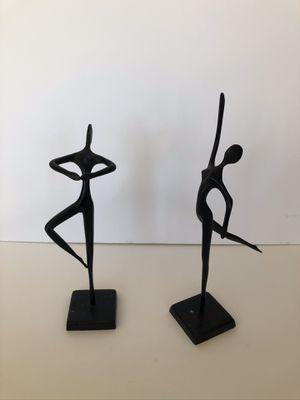Vintage Figurines: Swedish Bodrul Khalique Bronze Figurines - a Pair for Sale in Vista, CA
