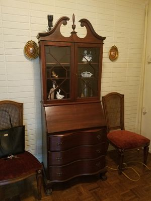 antique secretary desk - real wood for Sale in Coral Gables, FL