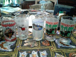 Kentucky Derby glasses collection for Sale in Pico Rivera, CA