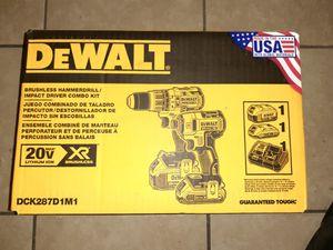 DeWalt Brushless Hammerdrill Impact Driver Combo Kit for Sale in Bakersfield, CA