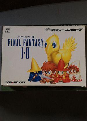 Final fantasy 1 and 2 Nintendo famicom nes for Sale in Everett, WA
