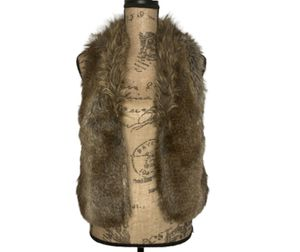 Express brown faux fur animal vest for Sale in Oakland, CA