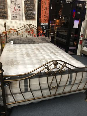 Showroom Deal - Sydney Metal Bed - Head Board -Footboard - Frame for Sale in Ocean Ridge, FL