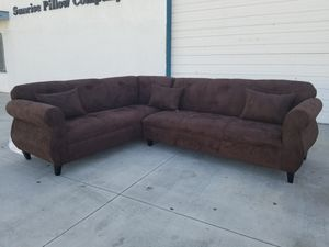 NEW 7X9FT DARK BROWN MICROFIBER SECTIONAL COUCHES for Sale in Phelan, CA