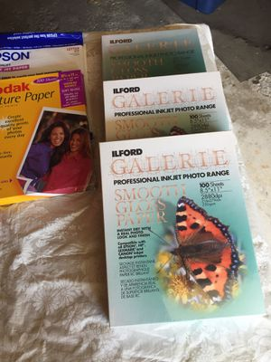 Gloss inkjet photo sheets plus extras for Sale in Parma, OH