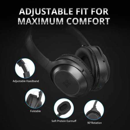 (2 packs) Active Noise Cancelling Headphones Bluetooth Headphones Wireless Headphones Over Ear with Mic, Stereo ANC Headphones, 35 Hrs Playtime