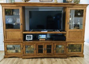 ENTERTAINMENT CENTER / TV STAND AND STORAGE (5 PIECE SET) — HIGH QUALITY, MSRP $1800 for Sale in Lyman, SC