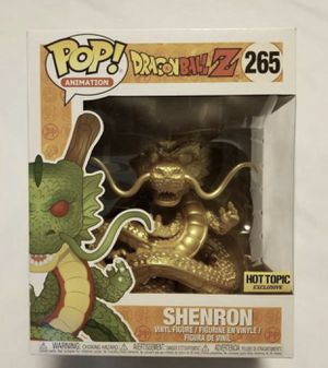 Gold shenron dragon ball z funko pop new hot topic for Sale in Clermont, FL