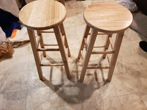 2 Brown wooden bar stools for Sale in Decatur, GA