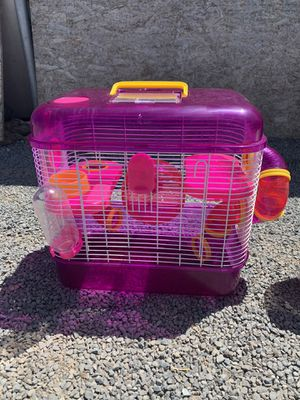 Hamster Cage w/Bedding $45 for Sale in Corcoran, CA