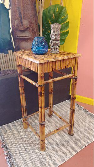 Boho Tiki Bamboo Side Table for Sale in Montebello, CA