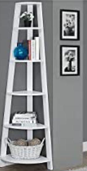 "New!! Bookcase, bookshelves, organizer, storage unit , shelving display, living room furniture, 72"" H, corner bookcase for Sale in Phoenix, AZ"