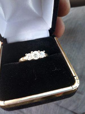 14 karat gold diamond ring with bonus diamond earrings for Sale in Los Angeles, CA
