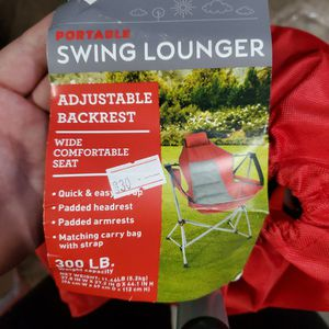 Brand New Portable Swing Lounger Chair for Sale in Riverside, CA