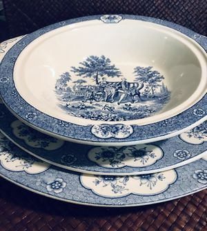Antique beautiful Adams serving white and blue China for Sale in Silver Spring, MD