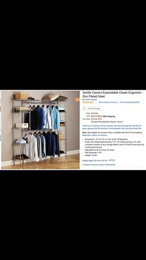 NEW, UNOPENED - CLOSET WITH SHELVING for Sale in Washington, DC