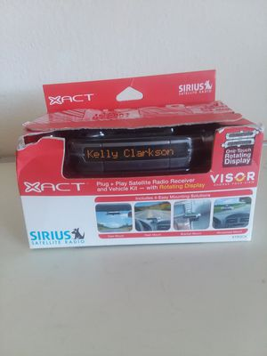XTR3CK Sirius Satellite Radio Receiver With Vehicle Car Kit VISOR . for Sale in Hyattsville, MD