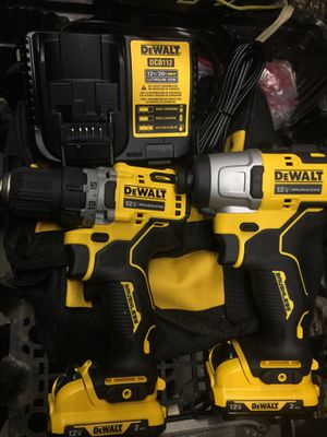 New dewalt impact drill combo with two batteries and charger for Sale in Baton Rouge, LA