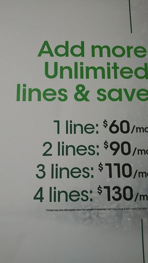 Unlimited plan with 15gb of hotspot included for Sale in High Point, NC