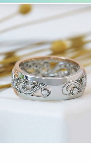 Flower Rings for Women Girlfriend Hollow Mosaic Diamonds Wedding Engagement Anniversary gift for Sale in Stockton, CA