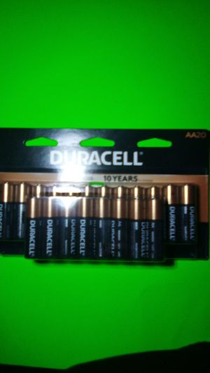 Duracell double a batteries 20-count for Sale in Tacoma, WA