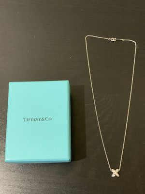 Tiffany & Co 18k white gold diamond necklace x for Sale in Temple City, CA