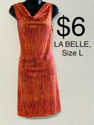 LA BELLE, Orange Striped Dress, Size L for Sale in Phoenix, AZ
