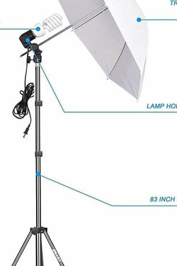 Emart photography umbrella kit CF d for Sale in Phoenix,  AZ